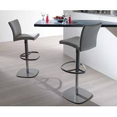 Ozzio S560 Slang Revolving stool in metal and leather with gas lift