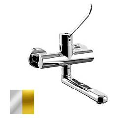 Paffoni De161co Wall-mounted kitchen mixer - chrome gold Denver