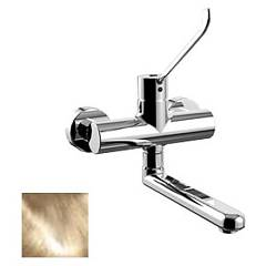 Paffoni De161gf Wall-mounted kitchen mixer - gold Denver