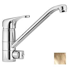 Paffoni De197gf Low pressure kitchen mixer - gold with dishwasher connection Denver