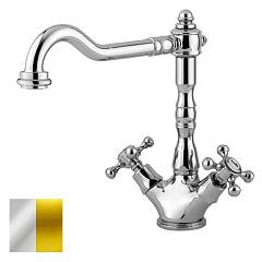 sale Paffoni Fblv180co - Belinda Kitchen Faucet - Chrome Gold