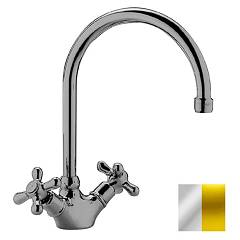 sale Paffoni Irv180co - Iris Kitchen Faucet - Chrome Gold