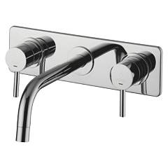 Paffoni Lig100cr Tap sink wall - chrome kaminska Light