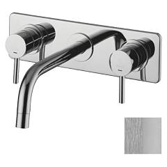 sale Paffoni Lig100mc - Light Sink Faucet Wall Mounted - Satin Chrome Wall-mounted