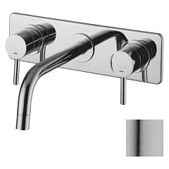 sale Paffoni Lig100ac - Light Sink Faucet Wall Mounted - Stainless Steel Wall-mounted