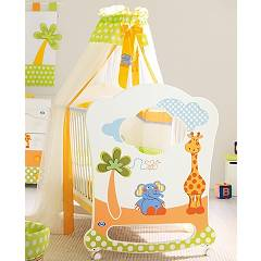 Pali Gigi E Lele Oblo Crib wood with drawer