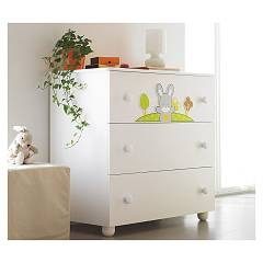 Pali Smart Bosco Chest of drawers in wood with three drawers