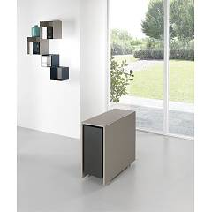 Pezzani Archimede Folding table chairs not included 90 x 73 x 34 - structure and closures in painted steel and laminate top