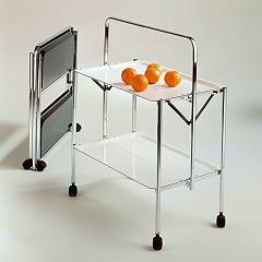 Pezzani Select Steel and formica hanging trolley