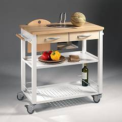 Pezzani Chef Cart in steel and wood