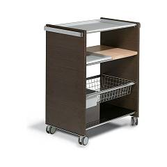 Pezzani Combi Cucina Cart in steel and wood