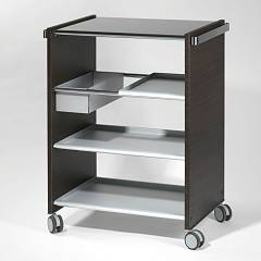 Pezzani Combi Service Cart in steel and wood