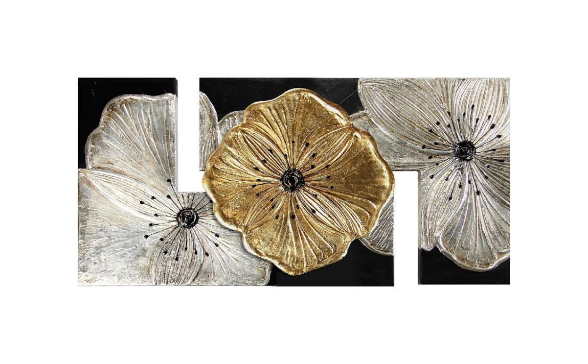 Panneau design 115 x 55 cm Pintdecor Petunia Gold Small