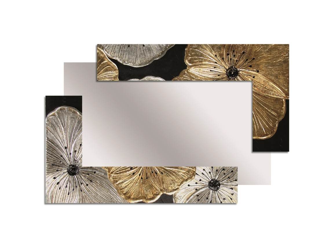 Spiegel cm 120 x 80 Pintdecor Petunia Oro Decomposed Klein