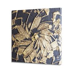 Pintdecor Black And Gold Montre 40 x 40 cm