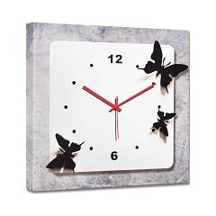 Pintdecor Farfalle Nere Watch 40 x 40 cm