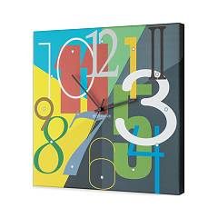 Pintdecor Color Numbers Horloge cm. 40 x 40