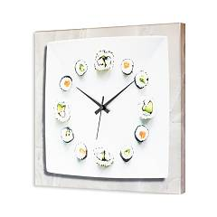 Pintdecor Sushi Time Clock cm. 40 x 40