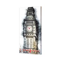 Pintdecor London Time 2 Uhr cm. 40 x 80