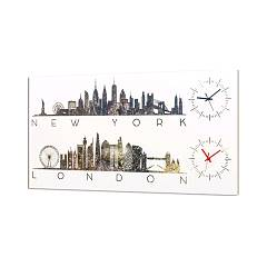 Pintdecor New York Time Uhr cm. 80 x 40