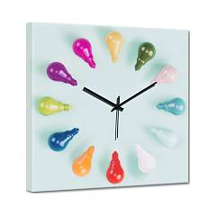 Pintdecor Lampadine Colorate Horloge cm. 40 x 40