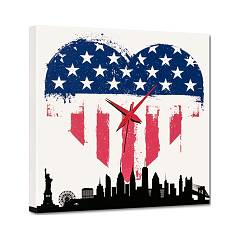 Pintdecor I Love U.s.a. Clock cm. 40 x 40