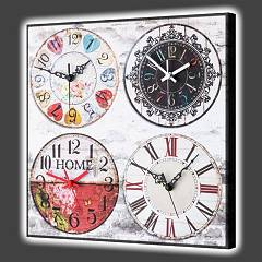 Pintdecor Romantic Time Horloge lumineuse cm. 40 x 40/100 x 100