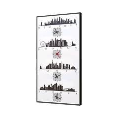 Pintdecor Four Cities Leuchtende uhr cm. 40 x 80/70 x 140