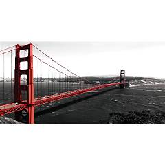 Pintdecor Golden Gate Bridge Ramki cm. 80 x 40 / 140 x 70