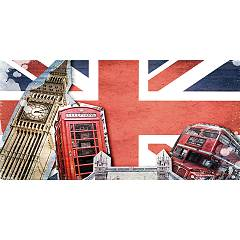 Pintdecor London Collage Bild cm. 80 x 40/140 x 70