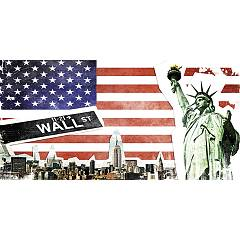 Pintdecor Wall Street Picture cm. 80 x 40/140 x 70