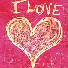 Pintdecor I Love You Bild cm. 40 x 40