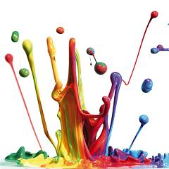 Pintdecor Splash Multicolor Bild cm. 40 x 40
