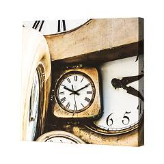 Pintdecor OROLOGI IN MOVIMENTO Uhr cm. 40 x 40