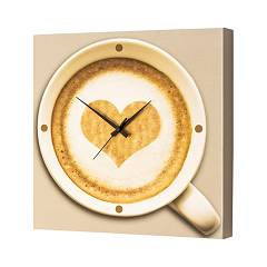 Pintdecor Cappuccino Time Watch cm. 40 x 40