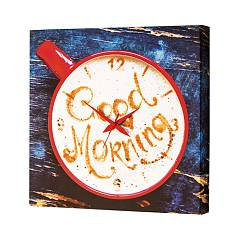 Pintdecor GOOD MORNING Uhr cm. 40 x 40