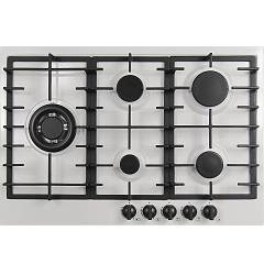Plados Telma Slim75 Ug 58 Hob cm. 75 x 51 - 4 gas burners + 1 triple valve crown - milk white