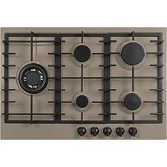 Plados Telma Slim75 Ug 72 Hob cm. 75 x 51 - 4 gas burners + 1 triple valve crown - truffle