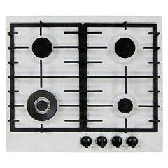 Plados Telma Slim60 Ug 58 Hob cm. 60 x 51 - 3 gas burners + 1 triple crown - milk white
