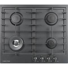 Plados Telma Slim60 Ug 70 Hob cm. 60 x 51 - 3 gas burners + 1 triple crown - matt black