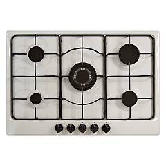Plados Telma Star 75 - Uq 87 Hob cm. 75 x 51 - 4 fires + 1 triple valve crown - antique white
