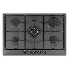 Plados Telma Star75 - Ug 70 Hob cm. 75 x 51 - 4 fires + 1 triple valve crown - matt black