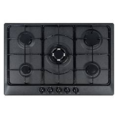 Plados Telma Star75 - Ug 95 Hob cm. 75 x 51 - 4 fires + 1 triple valve crown - black ebony