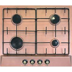 Plados Telma Star60 Um 60 Hob cm. 60 x 51 - 4 gas burners - copper