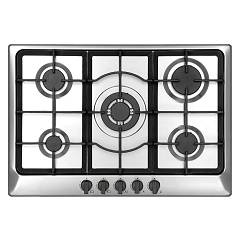 Plados Telma Star90 39 Hob cm. 86 - 4 gas burners + 1 triple valve crown - stainless steel