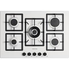 Plados Telma Flat75 Ug 58 Hob cm. 75 x 51 - 4 fires + 1 triple crown - milk white