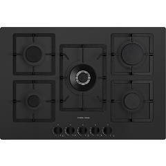 Plados Telma Flat75 Ug 70 Hob cm. 75 x 51 - 4 fires + 1 triple crown - matt black