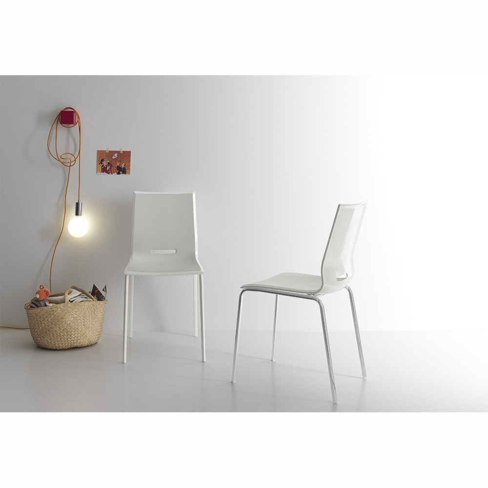 Photos 3: Point House Chair in metal and polypropylene ELENA 4