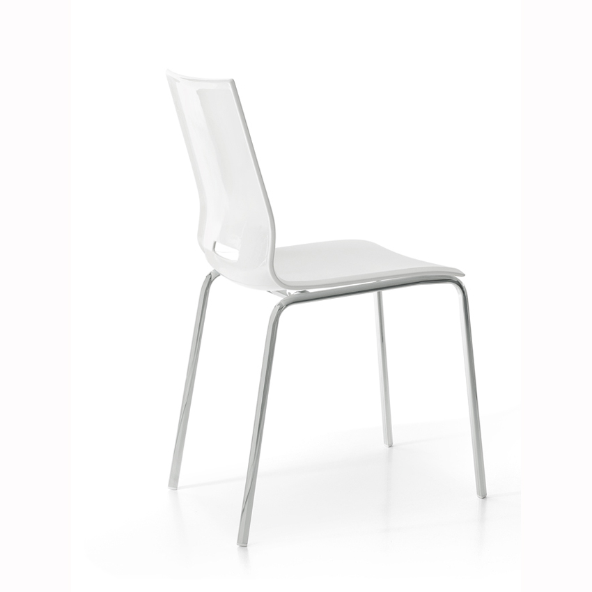 Photos 1: Point House Chair in metal and polypropylene ELENA 4
