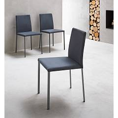 Point House Giulia Bassa Chair in metal and straw / eco-leather